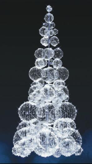 LED strom GX060L, studená bílá, výška 5 m