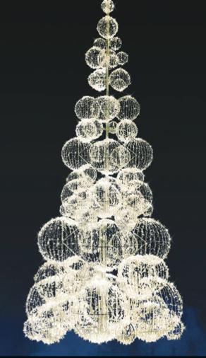 LED strom GX061L-W, teplá bílá, výška 10 m