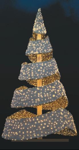 LED strom GX314L, teplá bílá, výška 5 m