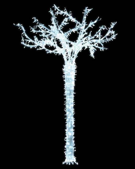 LED strom GX015-L, studená bílá, bílý kabel, výška 3,50 m