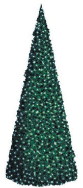 LED strom SLED04, studená bílá, výška 3 m