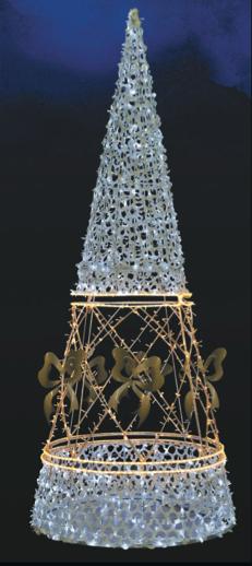LED strom SND003, studená/teplá bílá, výška 3 m