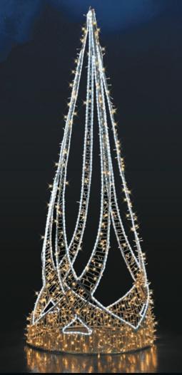 LED strom SL020, teplá/studená bílá, výška 3,2 m