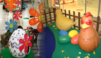 velikonoční výzdoba 3d dekorace