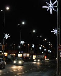vánoční dekorace veřejné osvětlení