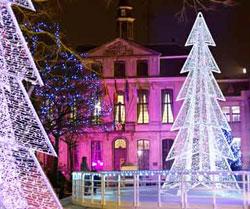 vánoční výzdoba ulice města